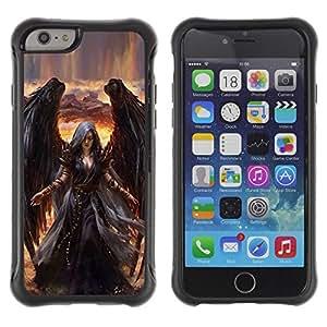 "Hypernova Defender Series TPU protection Cas Case Coque pour Apple Iphone 6 [Muerte de Giro Black Wings Bruja""]"