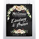 Wedding Welcome Sign   Unique Wedding Gift   Personalized Wedding Gift    Reception Decor Poster   Wedding Rustic Decor