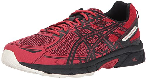 ASICS Mens Gel-Venture 6 Running Shoe, Lychee/Black/Whisper White, 10.5 Medium US