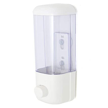 BaBaSM Dispensador de jabón 500ml Dispensador de loción Manual de jabón Transparente montado en la Pared