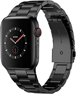 ZZLOVE Compatible with Apple Watch Straps Stainless Steel Strap 38 40 42 44mm Strap Metal Wearing Comfortable Durable Strap can Replace All 1/2/3/4/5/6 SE Series of Apple Watch iWatch Straps