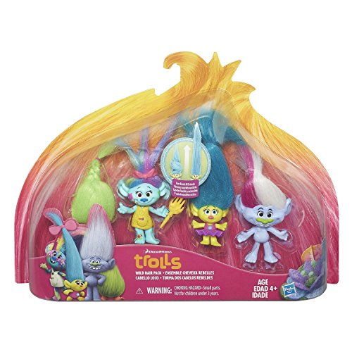 NEW TROLLS Hot SELLER Wild Hair Pack Toddler Kids DreamworksTeens Christmas Holiday Gift Set Collection Pack by Unknown