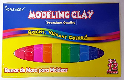 A+ Homework Modeling Clay 12 Colors Box -12pcs(Pack of 48) from A+ Homework