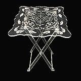 immi-living Folding Table - Clear Acrylic
