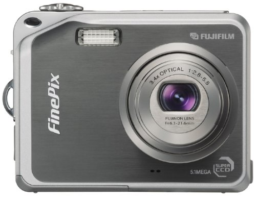 Fujifilm Finepix V10 5.1MP Digital Camera with 3.4x Optical Zoom (Gun Metal Grey) (Xd Card 16 Fujifilm Picture Mb)