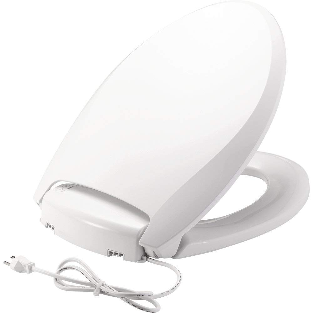 Bemis Radiance Plastic Toilet Seat, Elongated, White, H1900NL 000