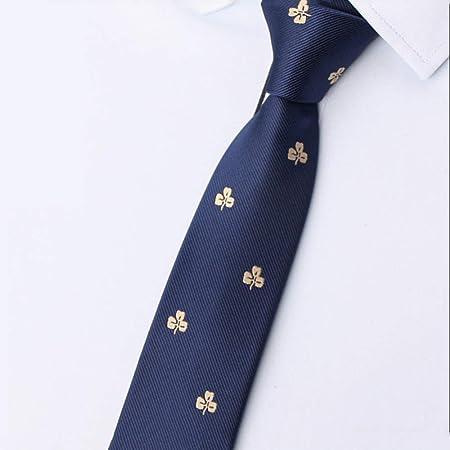 GuanBen Corbata de Hombre y Clip de Corbata de Hombre, 7 CM ...