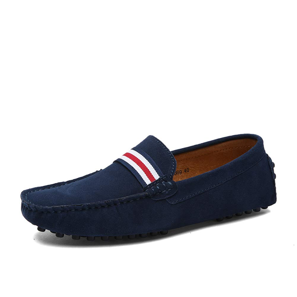 GPF-fei Men ' S Lederschuh, Fall Spring Komfort-Wanderschuh Fashion Loafers & Slip-One Soft Flat schuhe Leichtbauschuh Leichtbau Schuhe,Blau,46