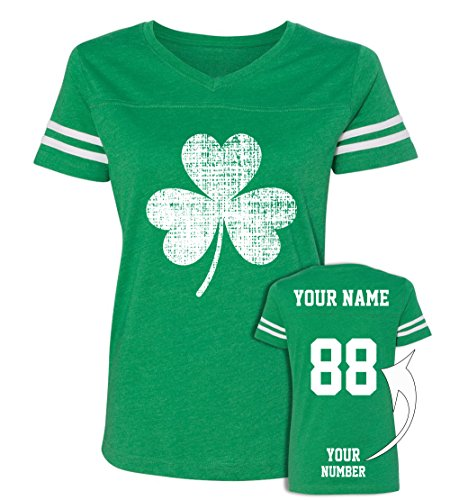 Custom Jerseys St Patrick's Day T Shirts ☘ Saint Pattys Jersey Tee & Irish Outfits -