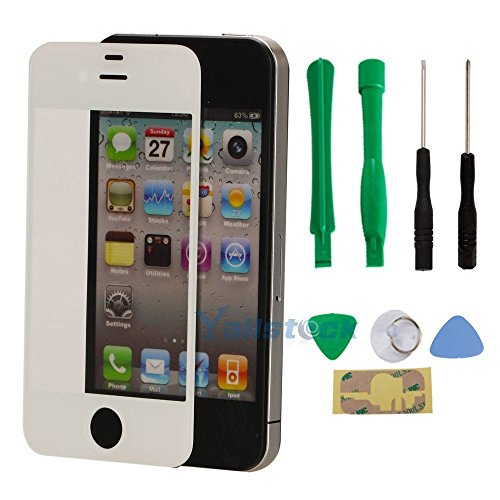 New Replacement LCD Front Screen Glass Lens for iPhone 4 4S - Time Class Package First Usps Delivery