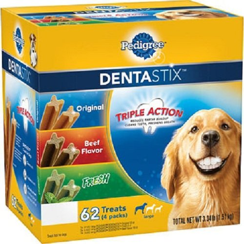 Pedigree DentaStix Dog Treats Variety Pack, 62 ct. (3.34 lbs.)
