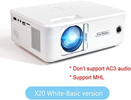 WHLDCD Proyector Mini proyector de la Marca LED Full HD 1080P Video Beamer portátil Home Theater Cinema LCD TV Smart 3D proyector de películas, estándar Blanco: Amazon.es: Electrónica
