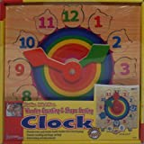 Wooden Counting and Shape Sorting Clock