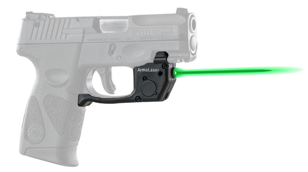 ArmaLaser Taurus PT111 PT140 Millenium G2 G2c G2s TR23G Green Laser Sight with Grip Activation by ArmaLaser