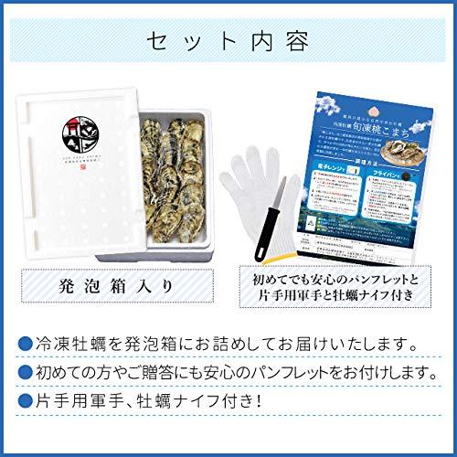 桃こまち牡蠣10個入 冷凍殻付き牡蠣 (発泡箱入・牡蠣ナイフ ...