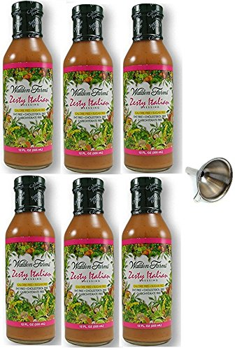 - Walden Farms Zesty Italian Salad Dressing 12 fl oz, 6 Pack With Funnel