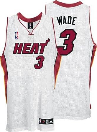 Amazon Com Dwyane Wade White Adidas Nba Authentic Miami Heat Jersey Athletic Jerseys Clothing
