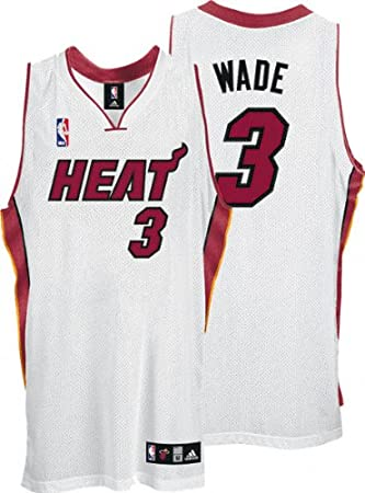 super popular f47bc 10926 Amazon.com : Dwyane Wade White adidas NBA Authentic Miami ...