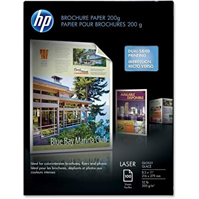 "Laser Brochure Paper,Glossy,58 No,97,8-1/2""x11"",100SH/PK,WE, Sold as 1 Package"