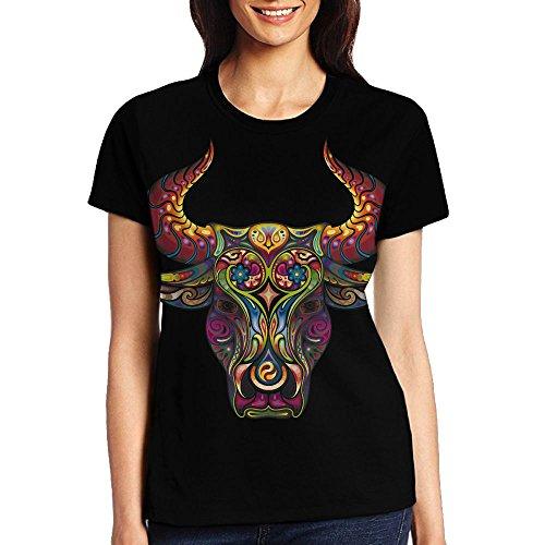 Bullhead Knife - PED JH3D Short Sleeve Women's Tee-Shirts/Bull Head