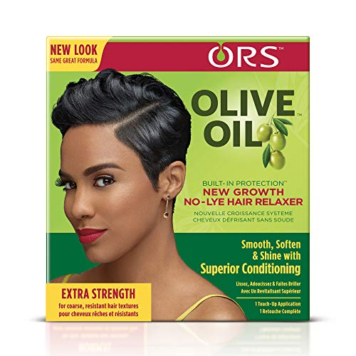 ORS Olive Oil Built-In Protection New Growth No-Lye Hair Relaxer - Extra Strength (Pack of 2)