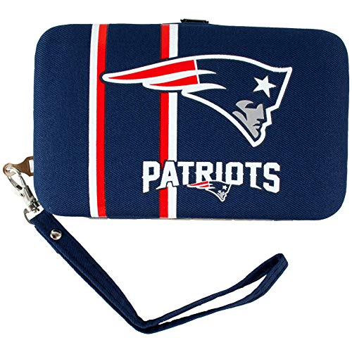 NFL New England Patriots Distressed Logo Shell Wristlet - Littlearth Petite Purse