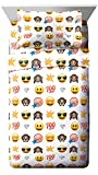 Emoji Faces White/Yellow 3 Piece Twin Sheet Set (Official Emoji License Product)