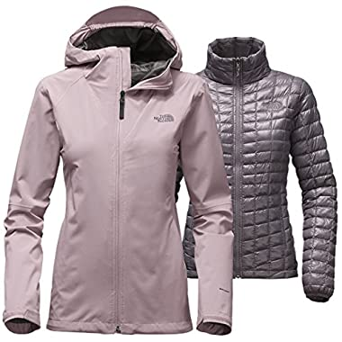 The North Face womens THERMOBALL TRICLIMATE JACKET NF0A2TDKHCV_M - QUAIL GREY