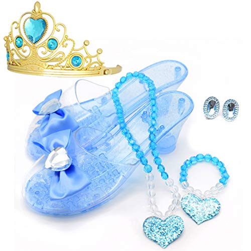 Princess Accessory Dress Up Set,Shoes Necklace Earrings and
