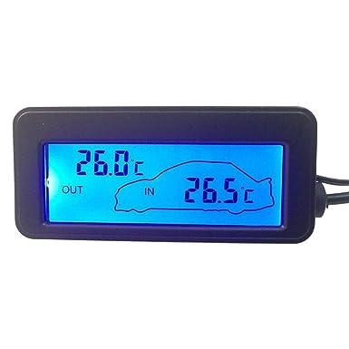 Waterfail Dc12v Auto Digital Thermometer Lcd Auto Innen Außentemperaturanzeige Für Lkw Und Lkw Hintergrundbeleuchtung Zwei Kann Ausgewählt Werden Gewerbe Industrie Wissenschaft