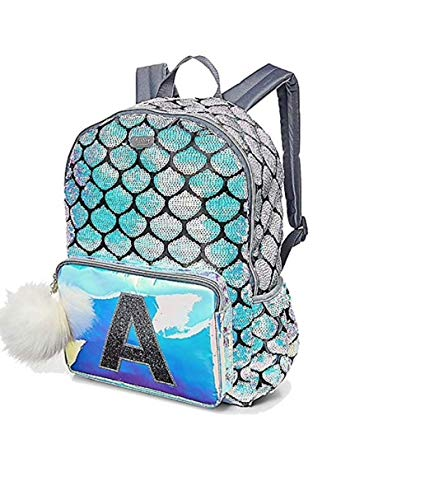 Justice Mermaid School Backpack Letter Initial (R)