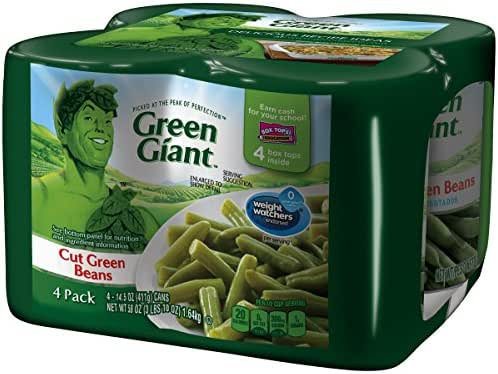 Canned Vegetables: Green Giant Cut Green Beans