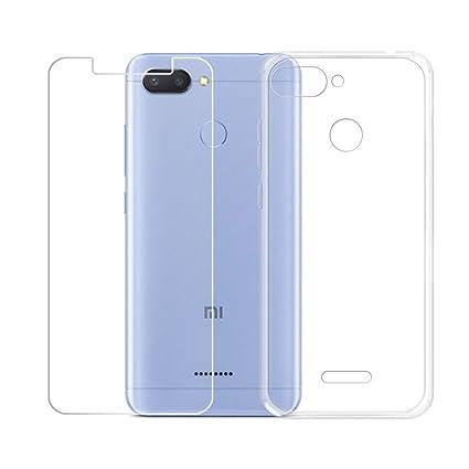 Amazon.com: LJSM Xiaomi Redmi 6 - Carcasa transparente y ...