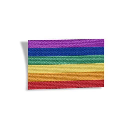 Wunderlabel Iron on Flag Rainbow Pride Colorful Tag Crafting Craft Art Fashion Ribbon Ribbons Tag Clothing Sewing Sew Clothes Garment Fabric Material Label Tags, Multicolor 10 Labels by Wunderlabel