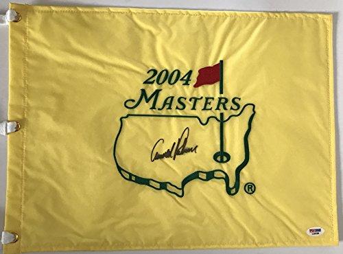 Arnold Palmer Signed 2004 Masters Golf Flag PSA DNA Coa