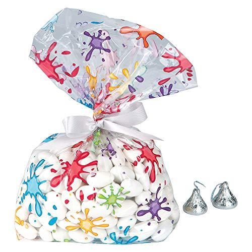 - Fun Express - Artist Party Cello Bags for Birthday - Party Supplies - Bags - Cellophane Bags - Birthday - 12 Pieces