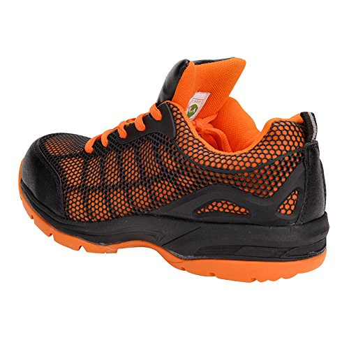Optimal Women's Safety Shoes Work Shoes Protect Toe Shoes … Orange Black by Optimal Product (Image #3)