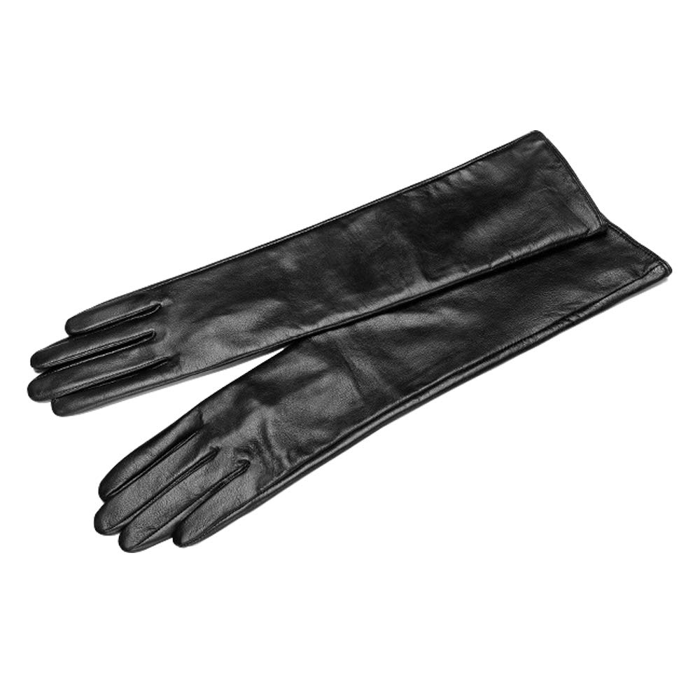 Vocono Womens Touchscreen Lambskin Leather Opera Long Gloves Evening Dress Driving Gloves M by VOCONO