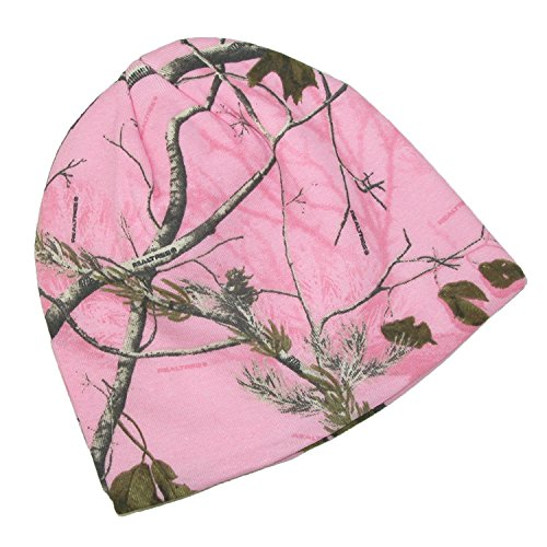 CTM RealTree AP Womens Cotton 8 Inch Camo Knit Stocking Cap,