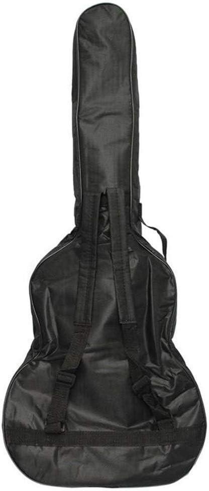 Elvira Burk Instrumento Musical Cubierta de la Caja Acolchada Bass Bolsa Guitarra Guitarra Mochila con Correas de Hombro Doble Guitarra