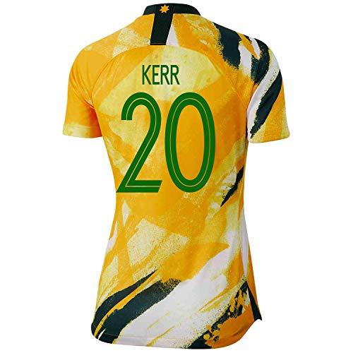Kerr #20 Australia Home Women's World Cup Soccer Jersey 2019/20 (M) (Best World Cup Jerseys)
