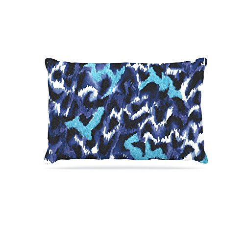 Kess InHouse Ebi Emporium Wild at Heart-bluee  Fleece Dog Bed, 50 by 60 , Aqua