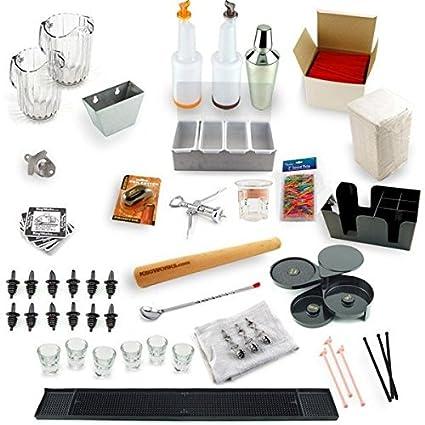 Amazon.com: Ultimate Home Bar Set-Up Kit: Barware Tool Sets: Kitchen ...