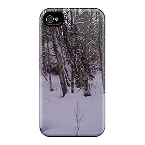 Cute Tpu DaMMeke Winter Forest Case Cover For Iphone 4/4s