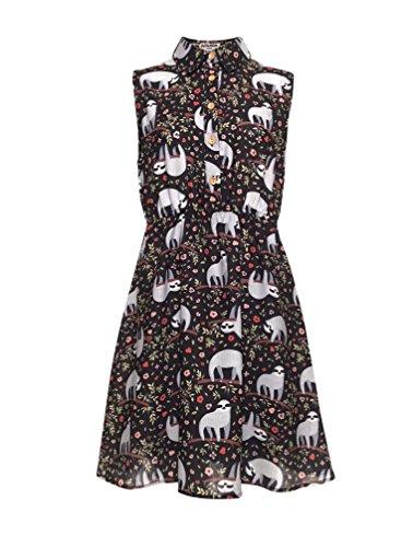 LaVieLente Customized Sleeveless Shirt Sloth Dress Fox Dress Dog Dress Stretchable Waist Design (Sloth, Small/Medium)