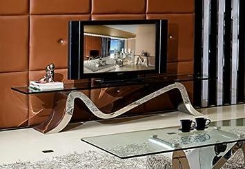 Lowboard Matteo Schwarz Wohnzimmer Tv Hifi Tisch Designer Luxus Buro