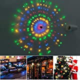 diy outdoor christmas decorations Hanging Starburst Lights, 320 LEDs 8 Modes Dimmable Battery Operated Fairy String Lights, Remote Control Copper Starry Lights for Christmas, Patio, Indoor Outdoor DIY Decoration (Multi Color)