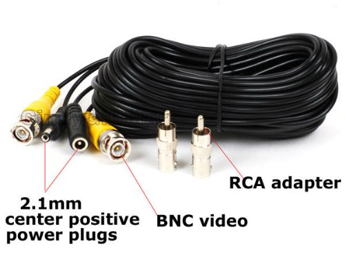 VideoSecu Video & Power 50 Feet BNC RCA Cable for Security Cameras 1JD