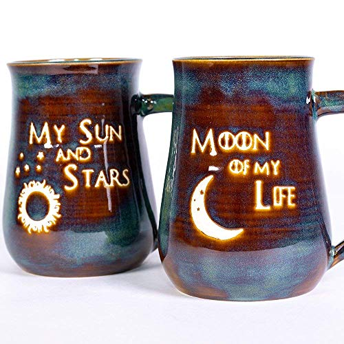 - Game of Thrones My Sun and Stars and Moon of My Life Handmade Pottery Coffee Mug Set of 2