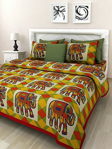 Pure Cotton Luxury King Size Mandala Bed Sheet Set with 2 Pillow Cases,Best Quality For Home, Hotel, Wrinkle, Fade, Stain Resistant, Hypoallergenic (Multi Colors Diamond Shapes & - Girl Model Malaysia